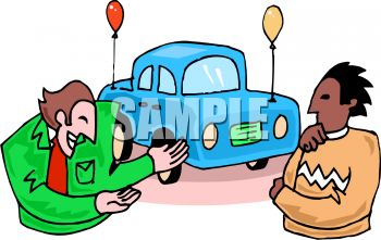 Used Car Salesman Giving His Clipart Panda Free Clipart Images