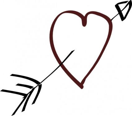 valentine heart arrow clip art clipart panda free clipart images rh clipartpanda com Black Heart Clip Art Free Free Heart Clip Art