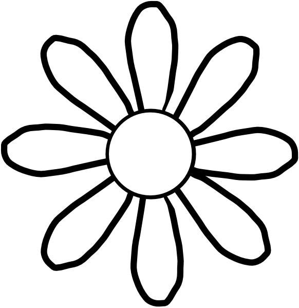 white flower clip art vector clipart panda free clipart images rh clipartpanda com free spring flower black and white clipart flower clipart black and white vector free download