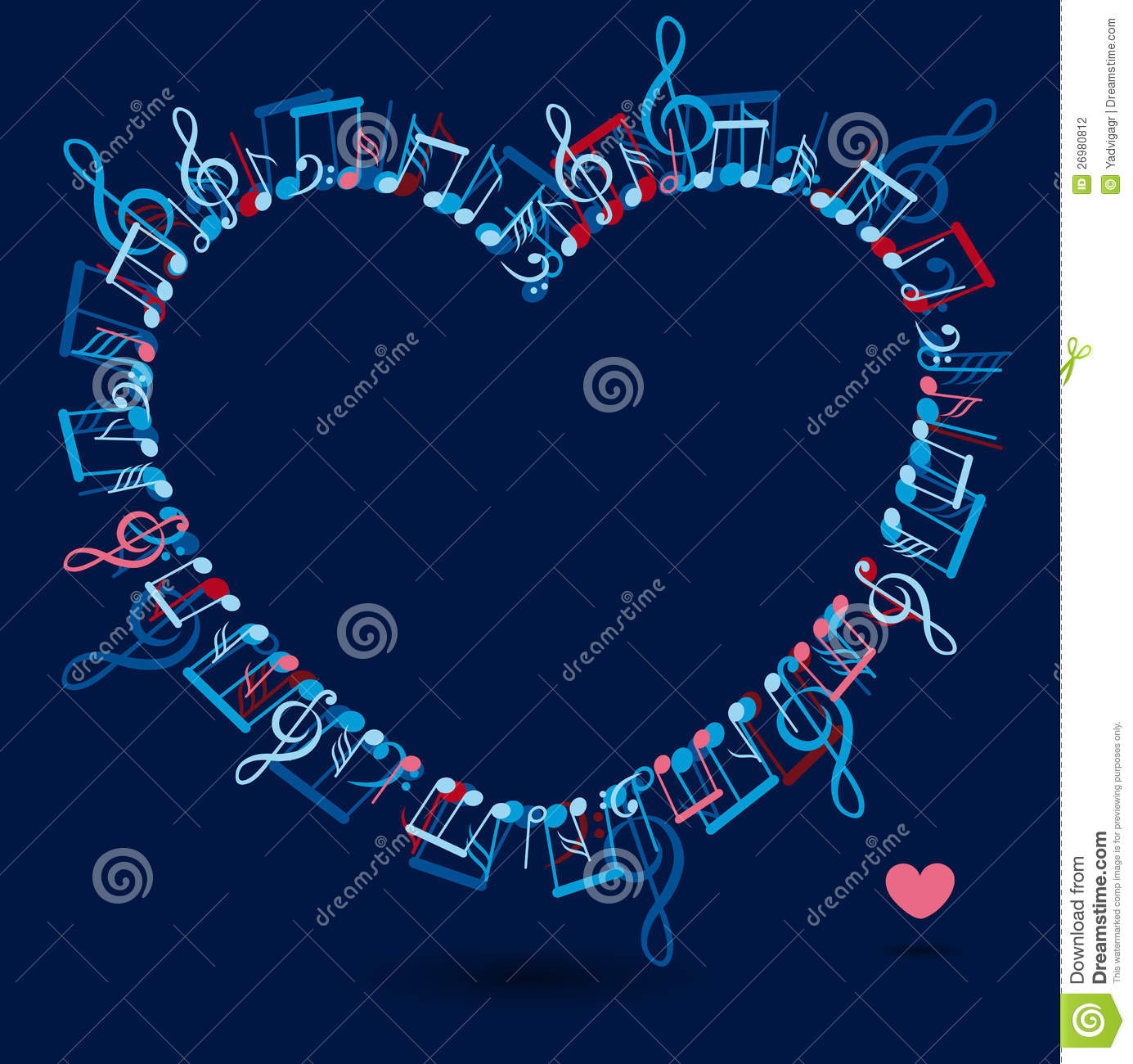 With Colorful Music Notes