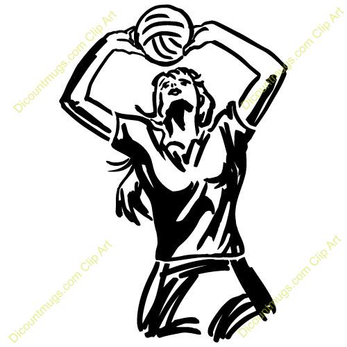 Volleyball passing. Woman clipart panda free