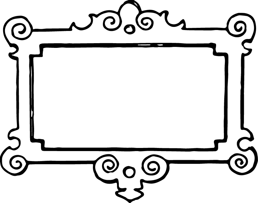 clipart frames yellow clip art frame - Drawing Frame